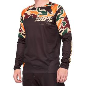 100% R-Core DH Maillot de cyclisme Homme, merlot/camo